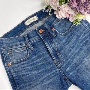 "Madewell 9"" High Rise Skinny Distressed Jeans"
